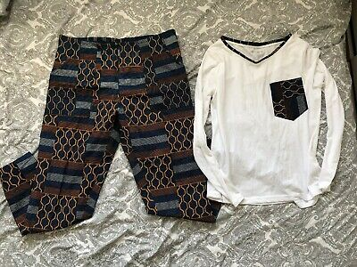 Ankara African Print Top And Trousers Set Size 12-14 Uk