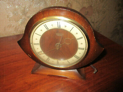SMITHS ENFIELD art deco ELECTRIC oak cased mantle  clock/C1930S