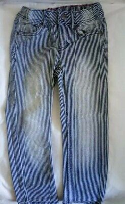 GIRLS SKINNY JEANS AGE 2-3 Light Blue Striped Faded H&M VGC