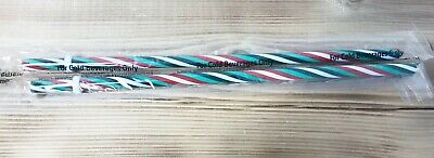 BRAND NEW - Starbucks - 2019 - Holiday Reusable Straw - Red/Green/White Set Of 2