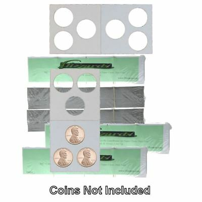 3 Hole - Penny/Cent Guardhouse 2x2 Mylar/Cardboard Coin Flips, 500 pack