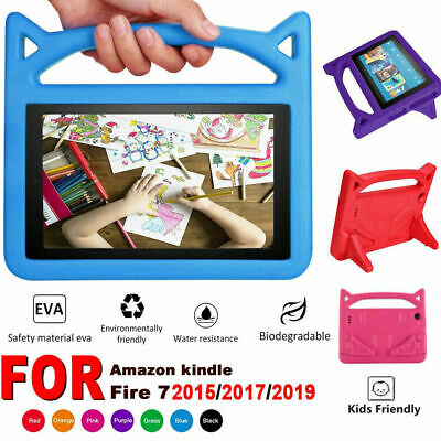 For Amazon Fire 7 inch Tablet Shock Proof EVA Handle Kids Stand Cover Case