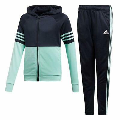 adidas girls navy/mint zip up tracksuit. Jogging suit. Age 5-6, 7-8 & 9-10 years