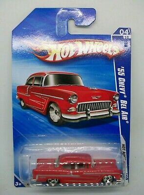 2010 HOT WHEELS HOT ACTION 4//10 /'55 CHEVY BEL AIR RED 162//240