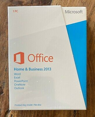 Microsoft Office Home and Business 2013 PKC GENUINE sealed T5D-01575 Win7/8/10