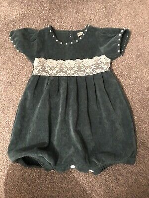 Stunning Baby Girl Vintage Style Balloon Romper 18-24 Spanish Romany Traditional
