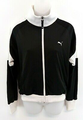 PUMA Womens Tracksuit Top Track Jacket 12 Black White Polyester