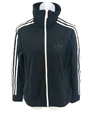 ADIDAS Womens Tracksuit Top Track Jacket 12 Black White Polyester