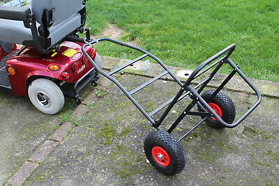 Mobility Scooter Carp Lake Fishing Tackle Gear Towing Transport Trolly Solution