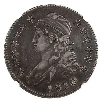 1810 Capped Bust 50C NGC Certified XF45 US Silver Half Dollar Coin