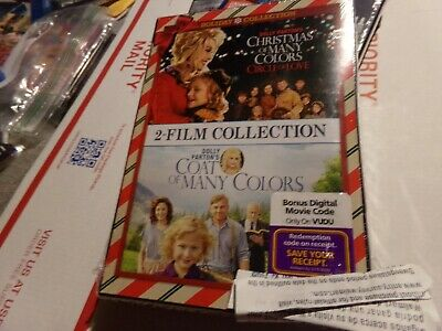 DOLLY PARTON'S COAT OF MANY COLORS + CHRISTMAS OF MANY COLORS New 2 DVD+DIG Code