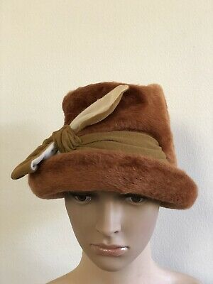 Anthony Hordern Bros Chapeau Shop: Antique Faux Fur Hat - Made by Fisher Ireland