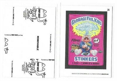 2019 Topps Wacky Packages Old School Series 8 Black Ludlow Garbage Fail Kids #26