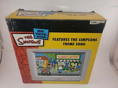Vintage ~(2000)The Simpsons Mini Virtual Vision with Theme Song ~
