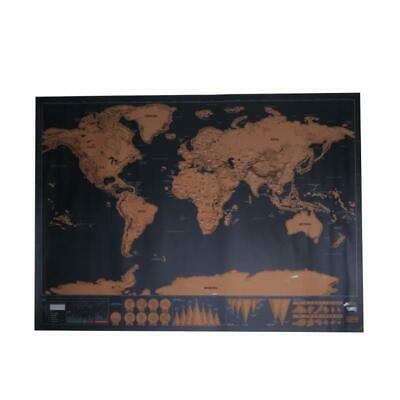 World Map Travel Edition Deluxe Scratch Map Personalized Poster Gifts Traveler