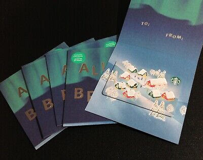 "2019 Canada  🇨🇦 Starbucks "" ⭐️ Star "" Marker Gift Card -- Lot Of 5 Pcs -- New"