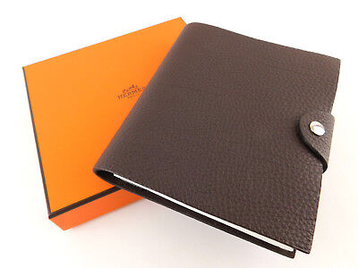 Authentic HERMES Brown Leather Agenda Note Cover with Diary Refill 365+1 Jours