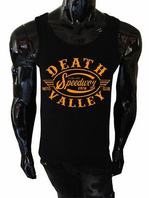 Death Valley Speedway Tank Top Siebdruck Damen Biker Weste Retro USA