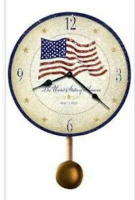 Howard Miller Moment in Time old glory Wall Clock with Pendulum