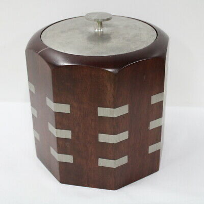 Royal Selangor Wood And Pewter Ice Bucket #323