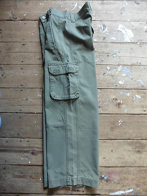 Cherokee Tesco Girls Trousers Age 9-10 Green Cargo Style Excellent Condition.