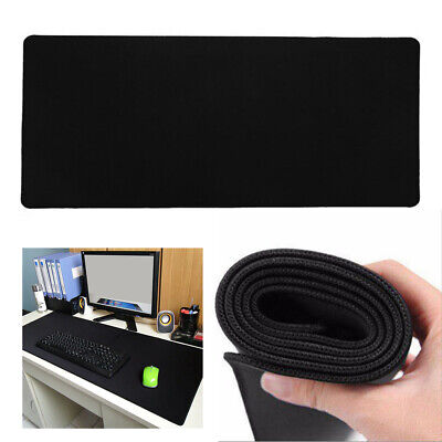 900x400mm Desk Mat Gaming Mouse Pad Size Anti-slip Rubber Speed Black Mousepad