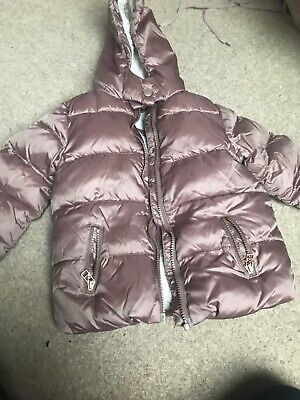 Next Girl Pink Toffee Padded Thick Winter Coat Aged 2-3 Years Lovely 💞