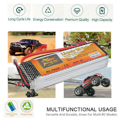 5000mAh 3S 25C Lipo Battery TRX plug 11.1V  for RC Helicopter Airplane Car Boat
