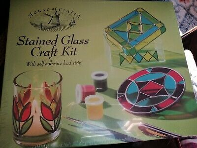 Stained glass art kit, new in packaging.