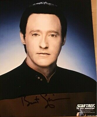 "Genuine BRENT SPINER Autograph Signed 8""x10"" LIEUTENANT DATA 2005"