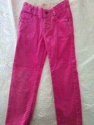 M&S girls pink cord trousers age 3-4