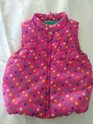 M&S girls puffa gillet age 3-4