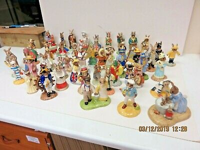 Job lot of Royal Doulton Bunnykins figurines - all boxed - 59 in total - Mixed