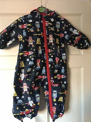Hatley Rain Suit / Raincoat Age 9-12 months Space Design Brand New