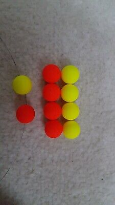 10 X HAIR RIGS PRELOADED WITH 15mm FLURO TWO TONE PLUM /& PINEAPPLE POPUPS CARP