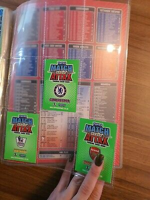 Topps Match Attax Trading Card Game Binder With 377 Cards Job Lot 2010/2011
