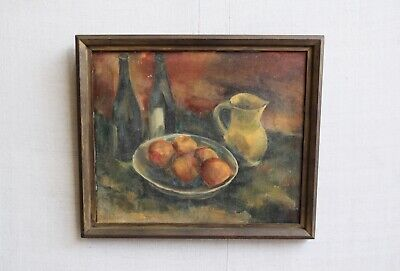 Vintage Antique French Still Life Oil Painting Wall Art 67 x 58cm