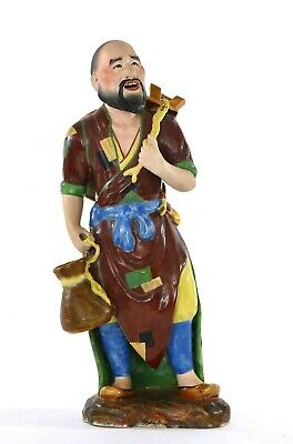 Chinese Famille Rose Porcelain Fisherman Man Figurine Figure 30CM