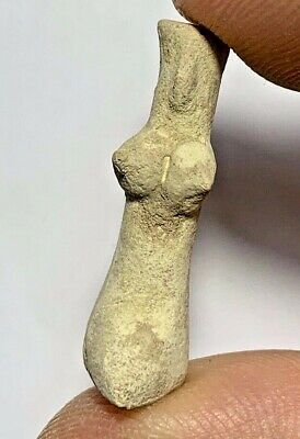 NEAR EASTERN INDUS VALLEY FERTILITY TERRACOTTA IDOL CIRCA 500 BC 3gr 33mm