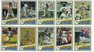 2019 Topps Heritage The Hammer's Greatest Hits Hank Aaron Lot (16 Cards)