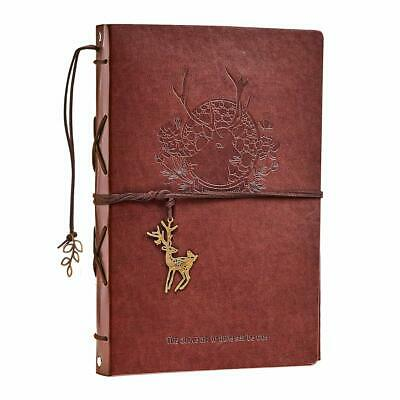 Scrapbook Photo Album Vintage Red Stag Leather Scrap Book Refillable. NEW