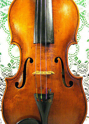 Stunning Old Antique 19th Century Violin 4/4 Gorgeous Tiger Flamed Wood No Crack