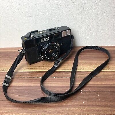 Konica C35 AF2 35mm Film Camera 38mm f/ 2.8 Lens JAPAN - Broken battery cover