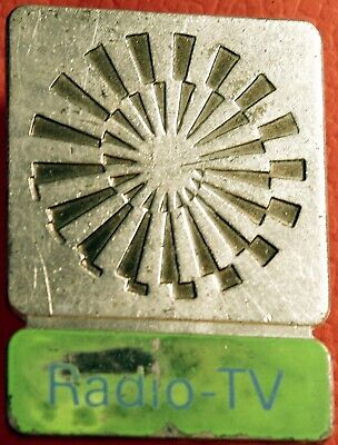 1972 Olympic Games Munich Germany RADIO - TV participation Silvered Pin Badge