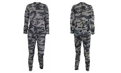 Girls Camouflage Print 2-Piece Lounge Wear Tracksuit Jogging Bottoms Top 7/8 yrs