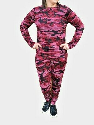 13/14 YEARS  Girls Camo Print 2-Piece Lounge Wear Tracksuit Jogging Bottoms Top