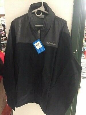 NWT Columbia Glennaker Lake Mens Rain Jacket XL Waterproof Black