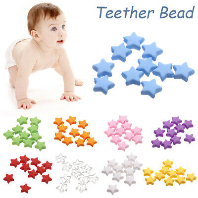 Cute Necklace Colorful Pentagram Star Teether Bead Acrylic Beads Molar Toy