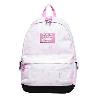Superdry NEW Women's Print Edition Colour Change Montana Rucksack - White BNWT