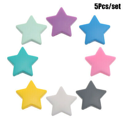 Colorful Cute Food Grade Teethers Toy Teether Bead Silicone Beads Star Shape